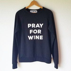 The Laundry Room Black Pray For Wine Sweatshirt S